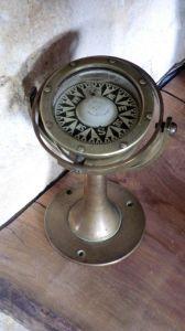 Бронзовый навигационный компас. Англия, 1900 г.