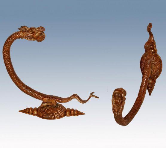 Два одежных крючка, бронза, XIX в.
