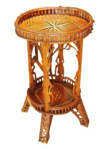 Резной столик с маркетри, около 1900 г.