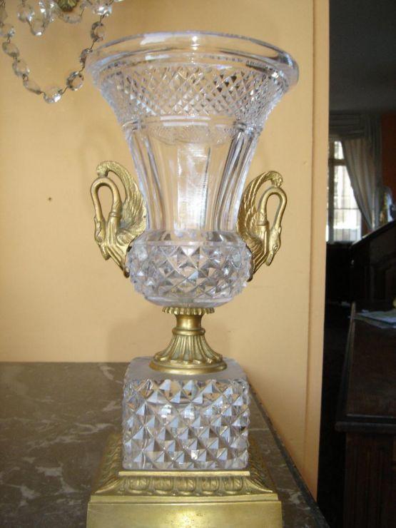 Хрустальная ваза 'Лебедь', XIX в.