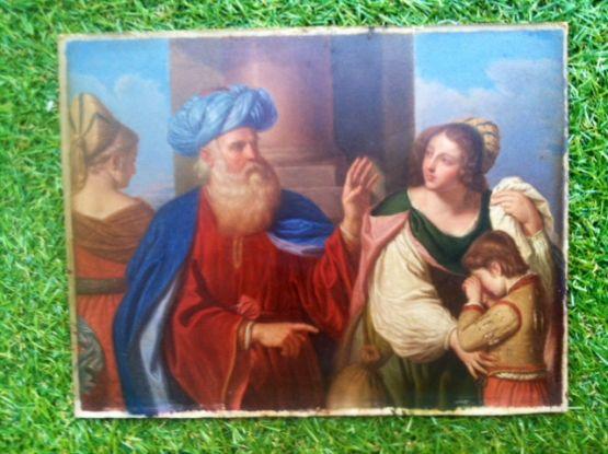 'Изгнание Агари и Измаила'. Le Guerchin, XIX в.