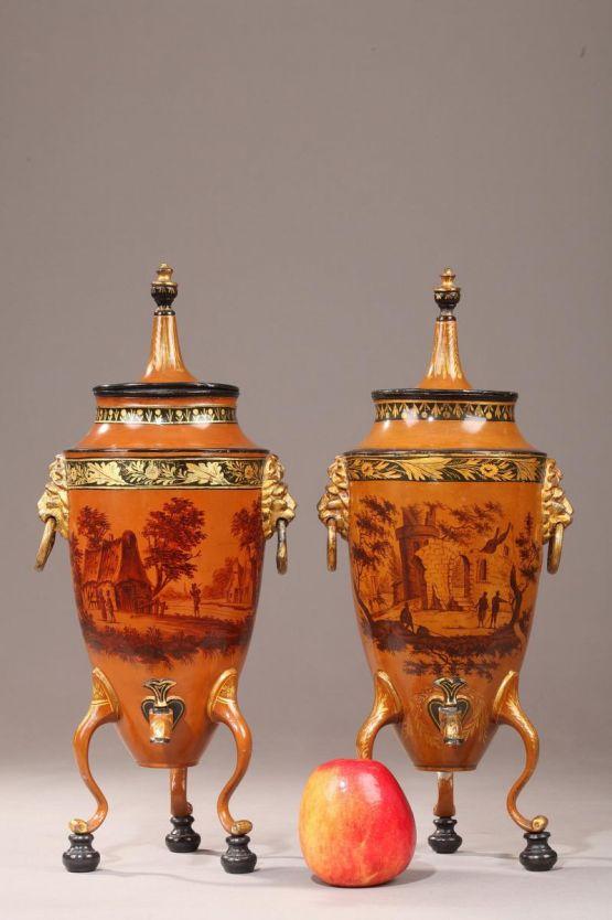 Два сосуда для воды эпохи династии Цин, XIX в.