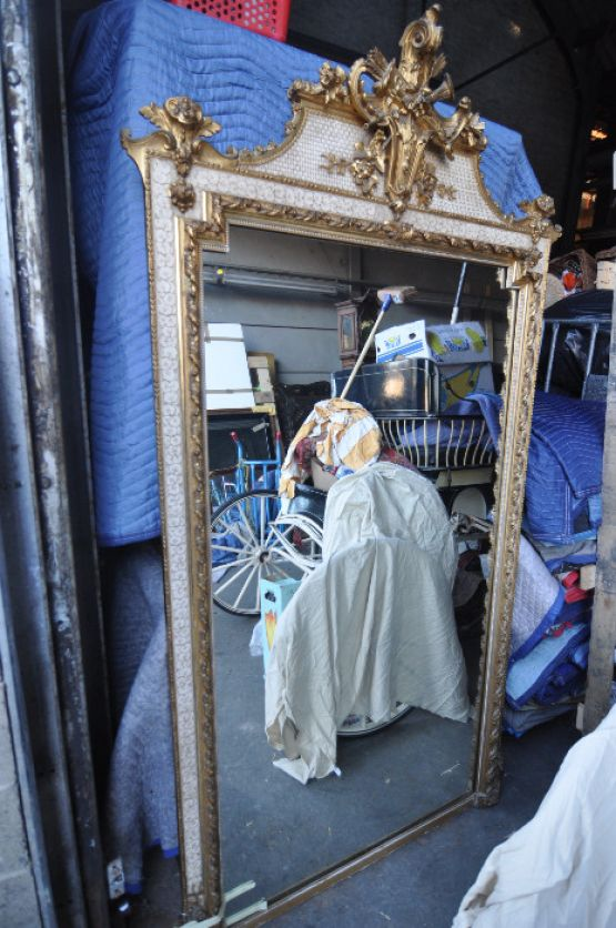 Каминное зеркало в стиле Людовика XVI