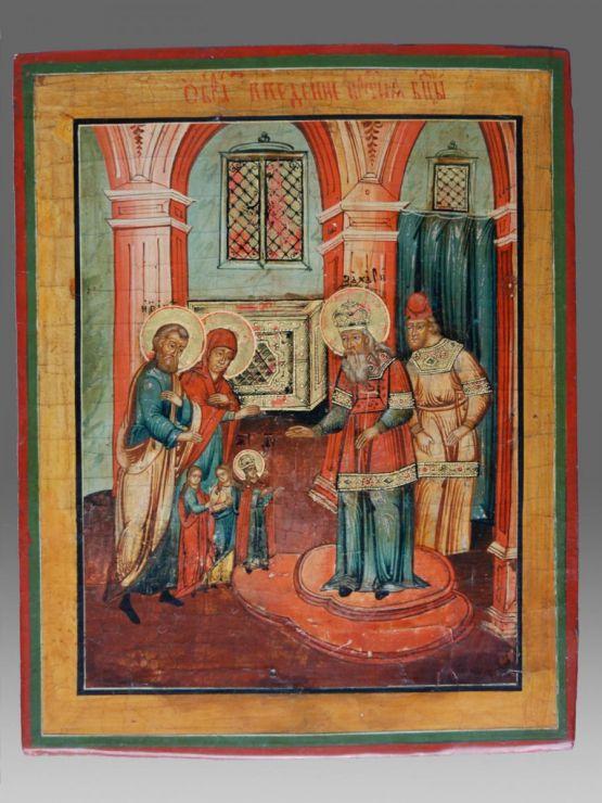 Икона 'Введение во храм Пресвятой Богородицы', XIX