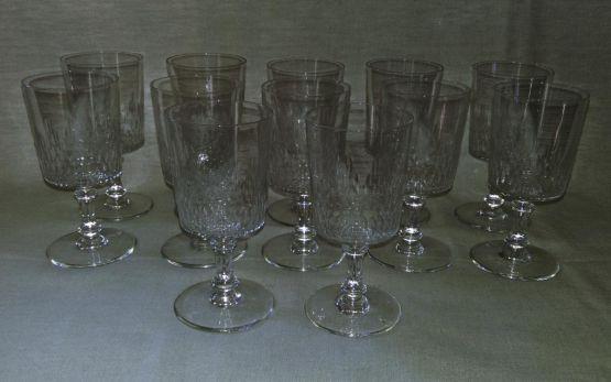 12 бокалов для воды 'Richelieu', XIX в.