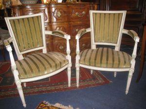 Два зеленых кресла в стиле эпохи Директории, ХХ в.