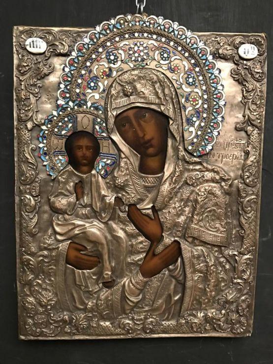 Икона Божьей Матери. Россия, XIX в. 32 см