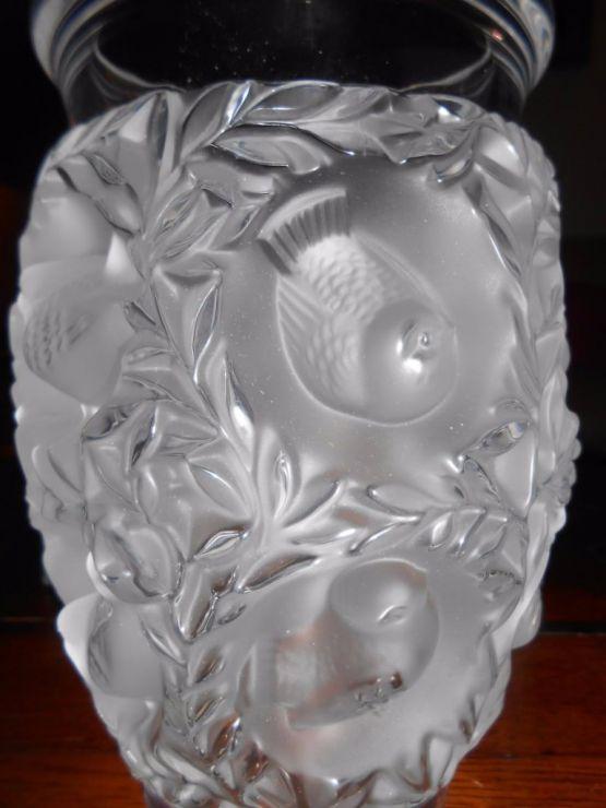 Ваза из бесцветного хрусталя, R. Lalique, XX в.