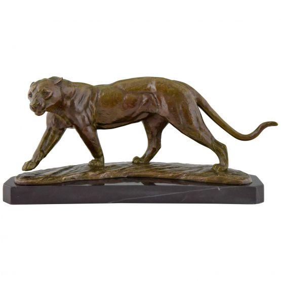 Бронзовая скульптура пантеры