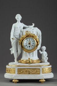 Каминные часы.  Huppe и Lefaucheux, XIX в.
