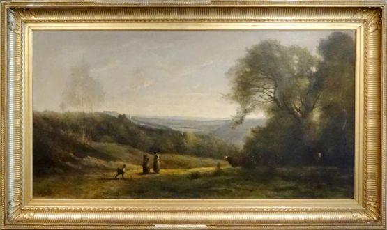 'Юные пастушки со стадом в лесу', XIX в.