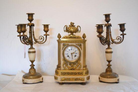 Каминный набор из трех предметов, XIX в.