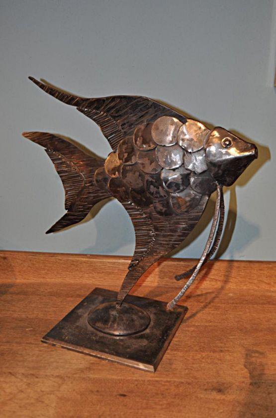 Скульптура рыбы из сварочного железа, XX в.