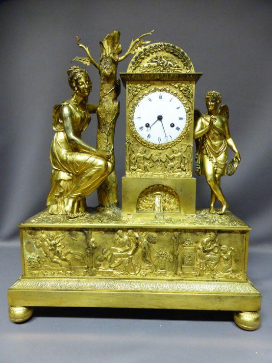 Часы 'Венера и Купидон' эпохи Реставрации, XIX в.