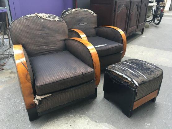 Два кресла и оттоманка, 1930 г.