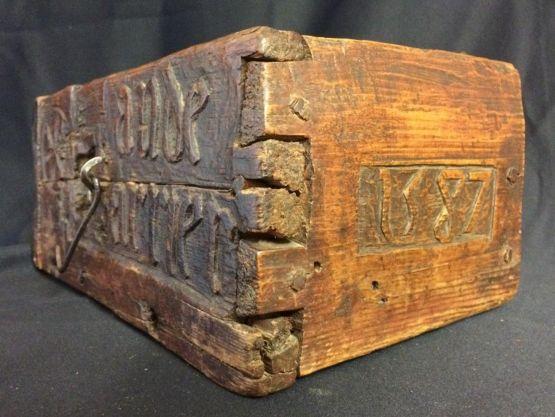 Деревянный ящик, XVI в.