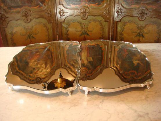 Два подноса в стиле Людовика XV, XIX в.