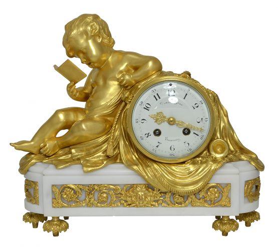 Часы 'Читающий Амур', XIX в.