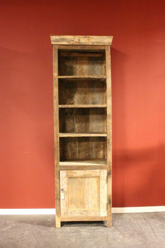 Старинный книжный шкаф из дерева - в антикварном магазине ан.