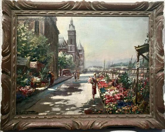 'Цветочный рынок'. M. Maton-Wicart, 1928 г.