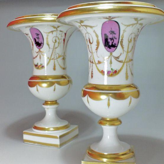 Две фарфоровые вазы. Salembier, конец XVIII в.