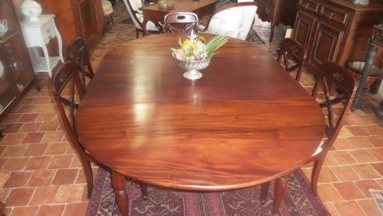 Раскладной стол из красного дерева, XIX в.