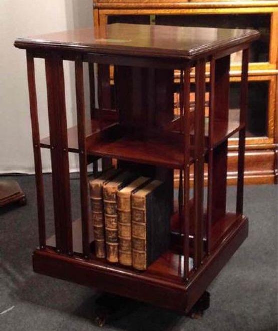 Вращающийся книжный шкаф, XIX век
