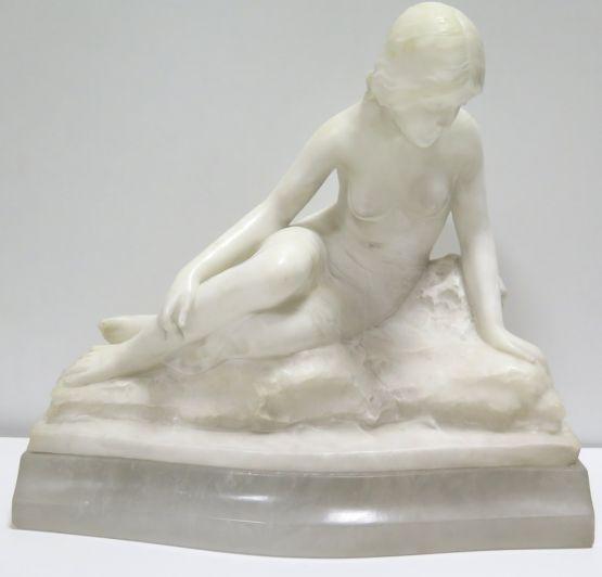 Алебастровая статуэтка девушки, XIX в.