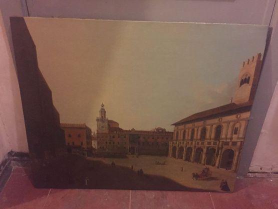 Живописная работа  'Городская площадь'