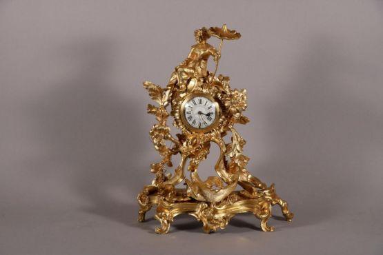 Позолоченные часы в китайском стиле, XVIII в.