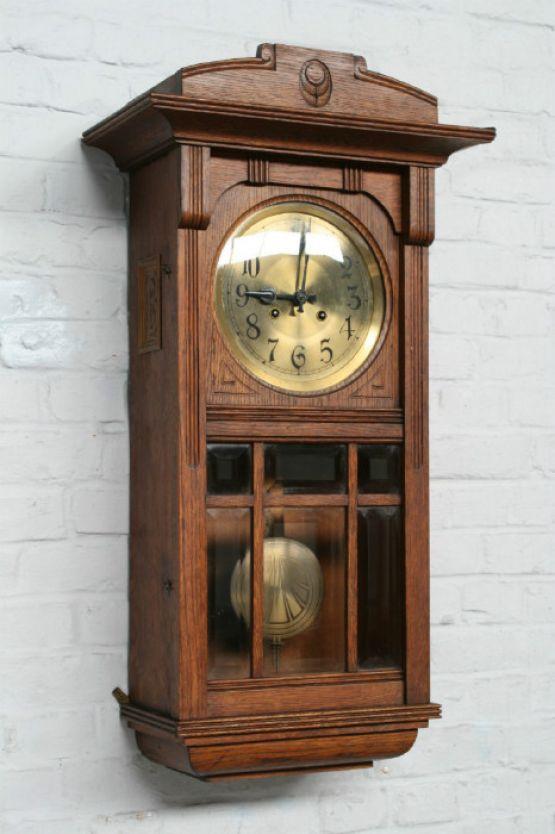 Настенные часы в стиле Ар-Нуво, 78 см
