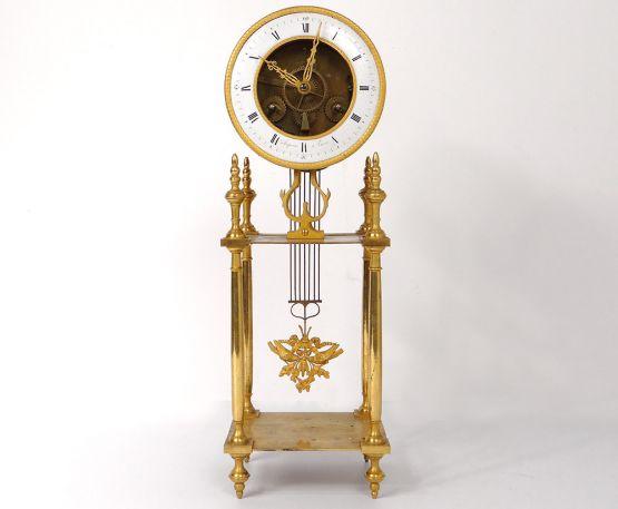 Позолоченные часы-скелетоны. Angevin, XIX в.