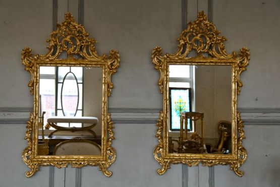Зеркало в раме в стиле Людовика XV