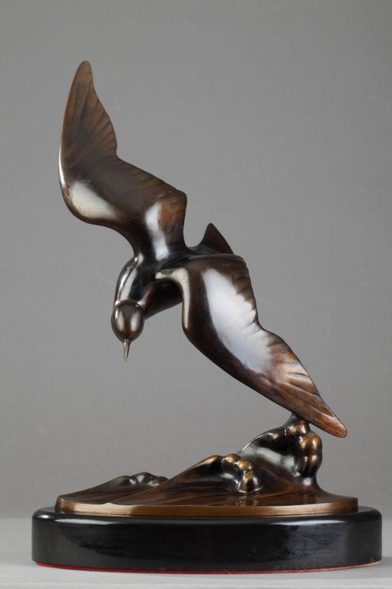 'Чайка над гребнем волны'. J.B. Leonard, 1920 г.