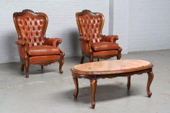 Кресла и кофейный столик в стиле Луи-Филиппа
