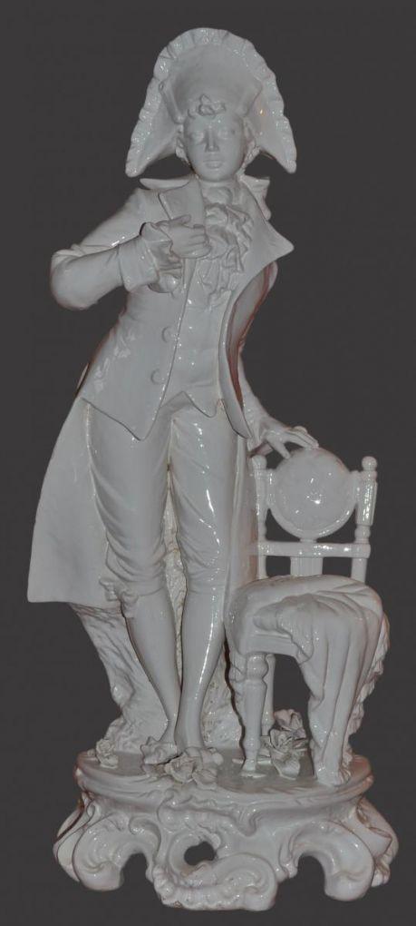 Подставка  для зонта из белой керамики, ХХ в.