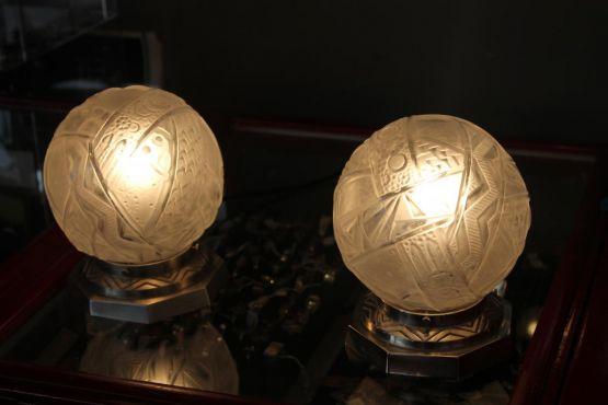 Две лампы в стиле Ар-Деко. Müller Brothers, XIX в.