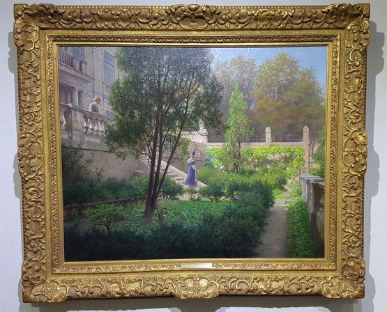 'Девушки в саду'. Raimund Von Wichera, XX в.