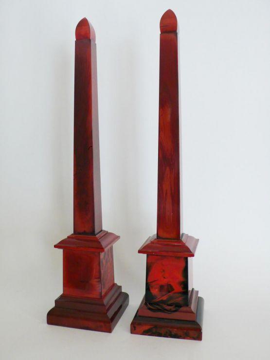 Два обелиска, литиалин, Богемия, ок. 1840 г.