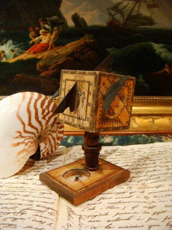 Солнечные часы в виде куба, XVIII в.