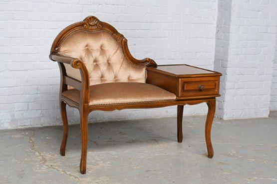 Телефонный столик-банкетка в стиле Людовика XV