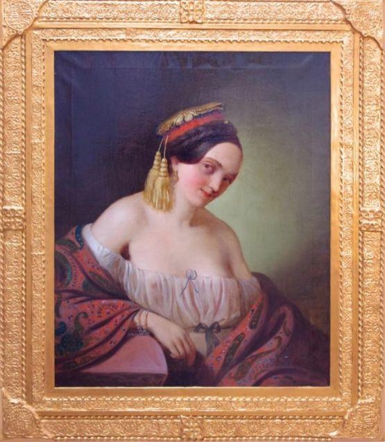 'Молодая куртизанка'. Georg Mayer, XIX в.