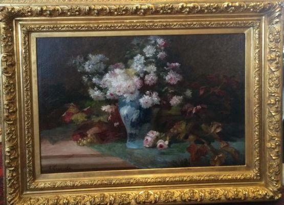 Натюрморт с цветами. Van Coppenolle, XIX в.
