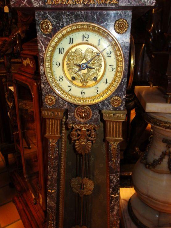 Мраморные часы в стиле ампир