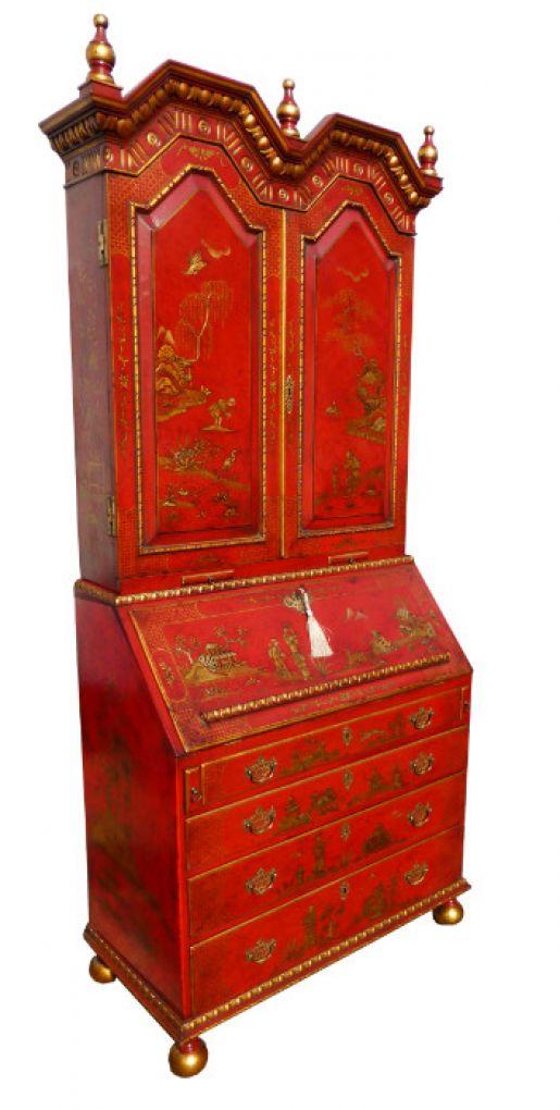 Старинный книжный шкаф-бюро в китайском стиле