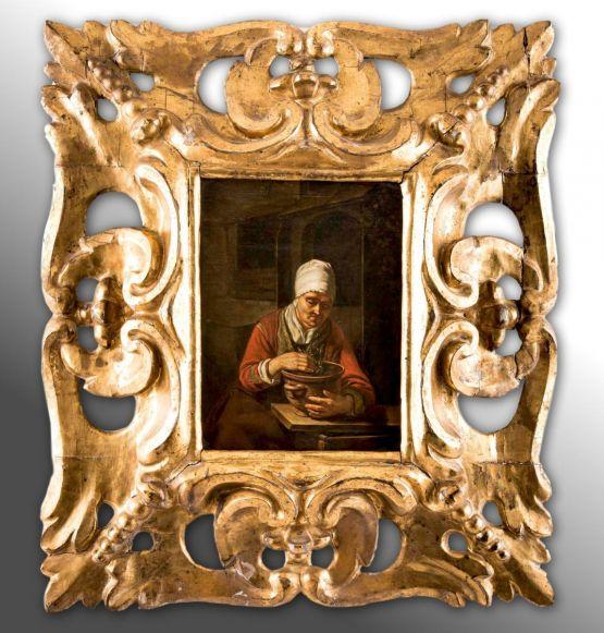 'Продавщица тюльпанов'. Nicolaes Maes, XVII в.
