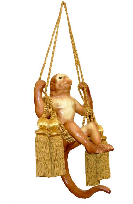 Скульптура обезьяны на качелях, Bavent, XIX в.