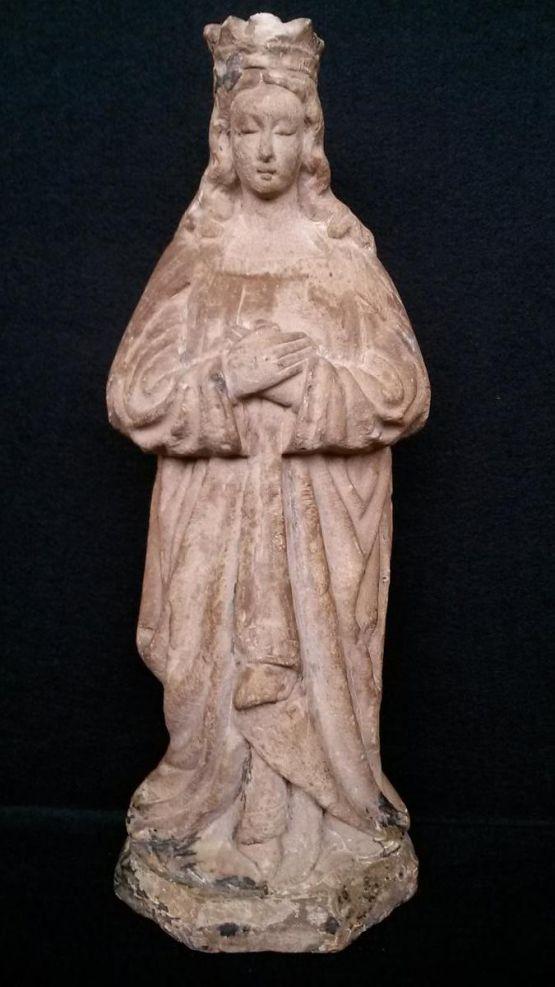 Каменная статуя Девы Марии, Сев. Франция, XV в.