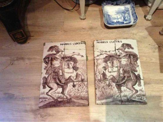 Два панно из делфтского фаянса, XVIII в.