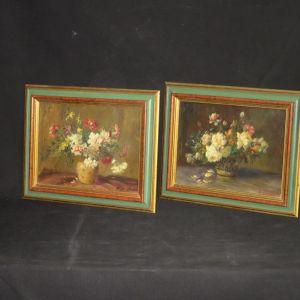Два натюрморта с цветами.  Bresfanini, начало XX в